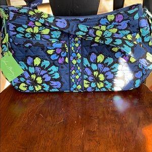 Vera Bradley Cassidy handbag Indigo Pop pattern